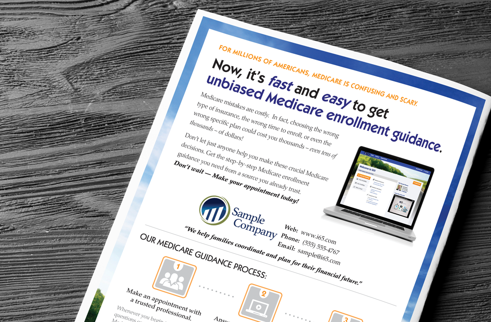 custom medicare marketing materials i65 medicare mapping software