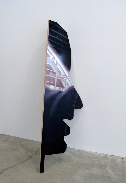 Rose Marcus,  Man in look , 2012, adhesive vinyl on MDF, 89 x 29.5