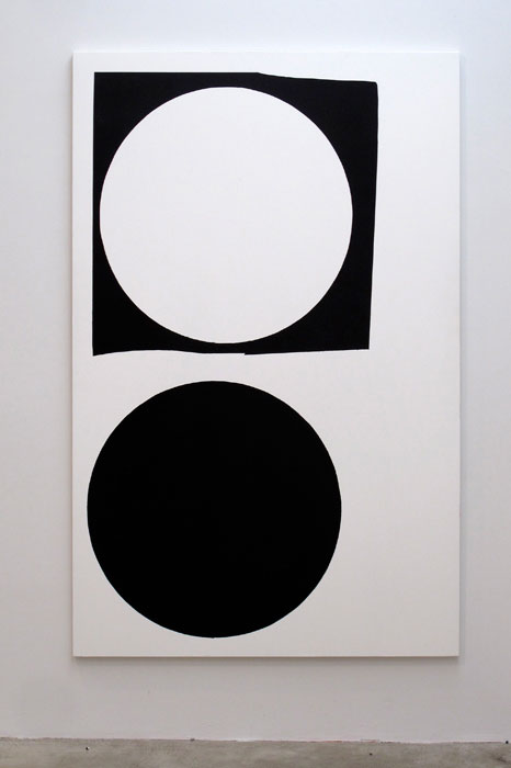 Andy Meerow,  Example , 2012, wall paint and acrylic on canvas, 74 x 48 in
