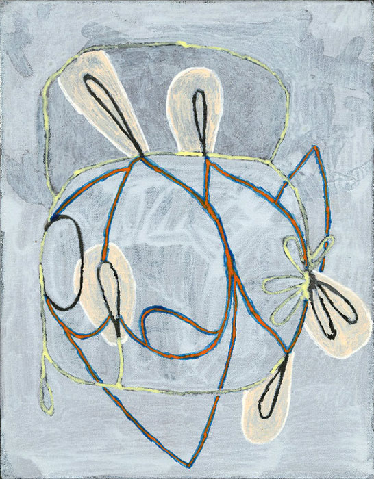 Hamlett Dobbins and Douglas Degges,  Not Yet Titled , 2010, acrylic on canvas on panel, 14 x 12 in