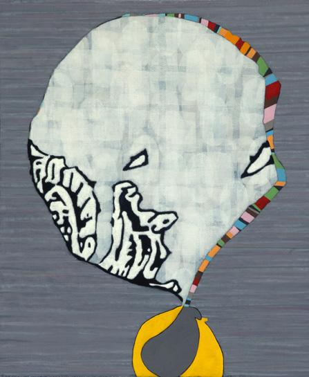 Hamlett Dobbins, Untitled (For G.U.T.) , 2011, oil on linen on panel,18 x 15 in