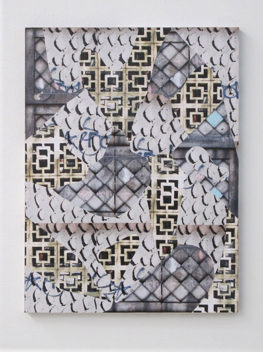 Max Warsh,  Portmanteaux , 2012, photographs on wood panel, 18 x 24 in