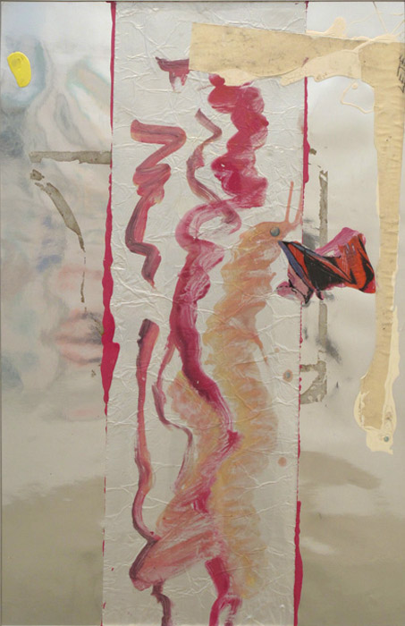 Leif Ritchey,  Untitled , 2008, acrylic and collage on poster, 40 x 26 in