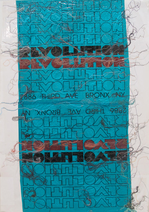 Leif Ritchey,  Untitled , 2008, collage on poster, 35 x 23 in