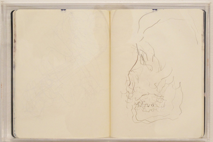 Christofer Amel,  Camden , 2012, sketch book, 10 3/4 x 15 3/4 in