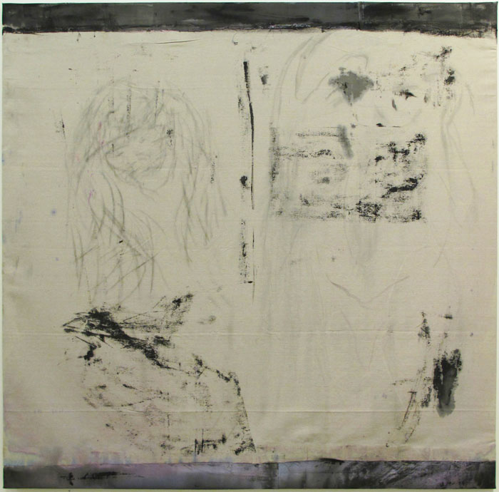 Christofer Amel,  DOUK-DOUK , 2012, acrylic and charcoal on canvas, 76 x 78 in
