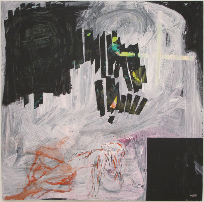 Christofer Amel,  Budo , 2011-2012, acrylic and charcoal on canvas, 78 x 78 in
