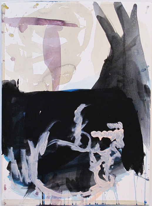 Christofer Amel,  Untitled (1) , 2012, acrylic, pencil, charcoal on Fabriano paper