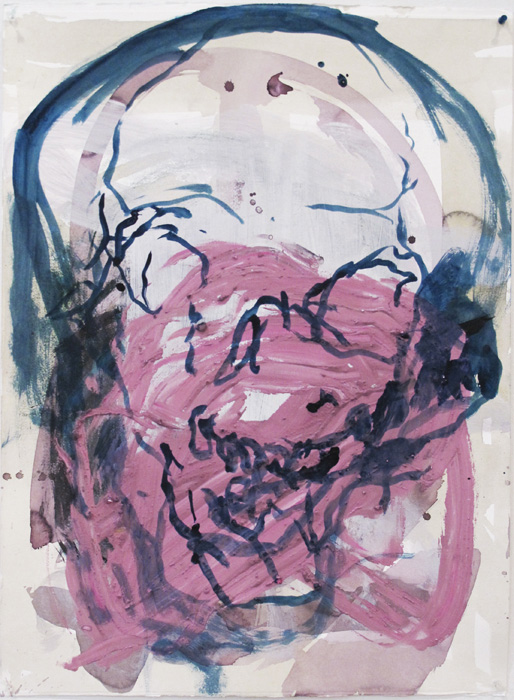 Christofer Amel,  Untitled (3) , 2012, acrylic, pencil, charcoal on Fabriano paper, 30 x 22 in