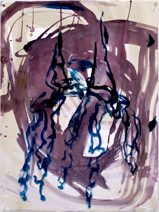 Christofer Amel,  Untitled (5) , 2012, acrylic, pencil, charcoal on Fabriano paper, 30 x 22 in
