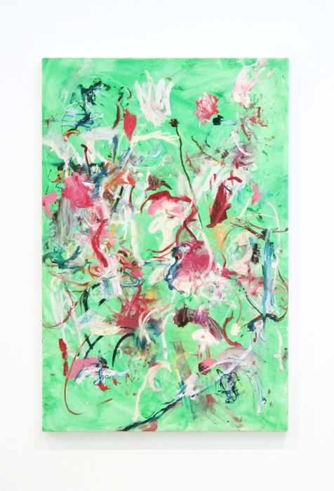 Shaun McDowell,  Untitled , 2011, oil stick on board, 47 x 31.5 in