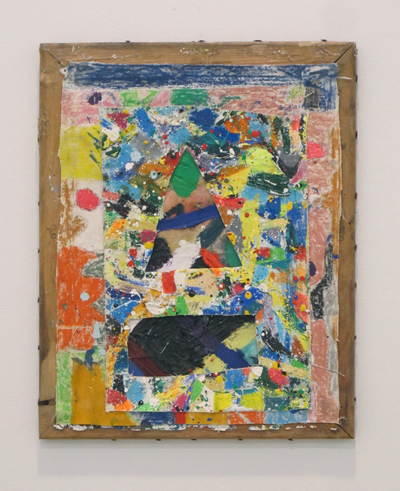 Bobby Dowler,  Painting-Object_(01.02.12) , 2012, mixed materials fixed to wooden stretcher, 20 x 16 in