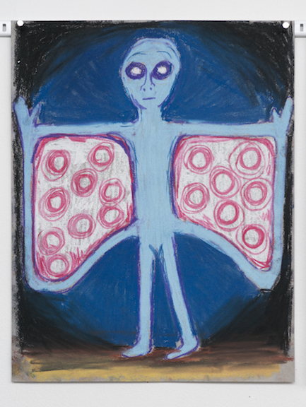 Charlles Irvin,  Moth Man , 2015, pastel on paper, 14 x 11 in