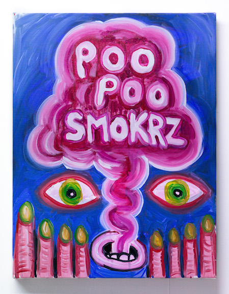 Charles Irvin,  Poo Poo , 2016, acrylic on canvas, 18 x 14 in