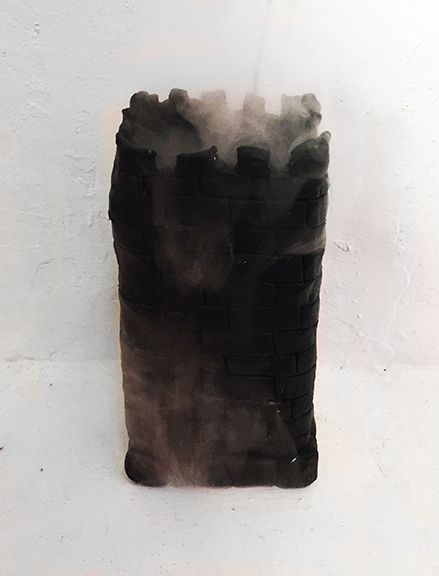Tom Forkin,  Black Vision Mist , 2015, potentized Henbane vapor and diffuser, dimensions variable
