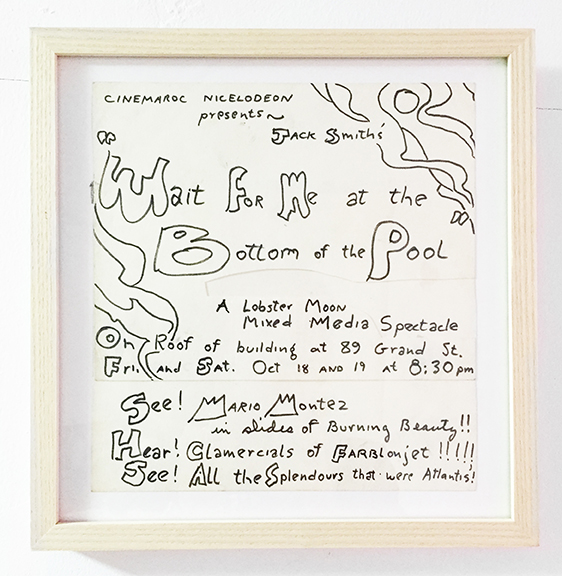 Jack Smith,  Wait For Me At The Bottom Of The Pool , 1968, ink on paper, 10 x 10 in