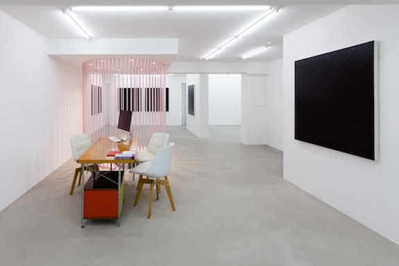 Installation view,  Olivier Mosset , STL, Luxembourg, 2014