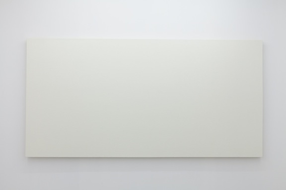 Olivier Mosset,  Untitled , 2010, polyurethane on canvas, 48 x 96 in