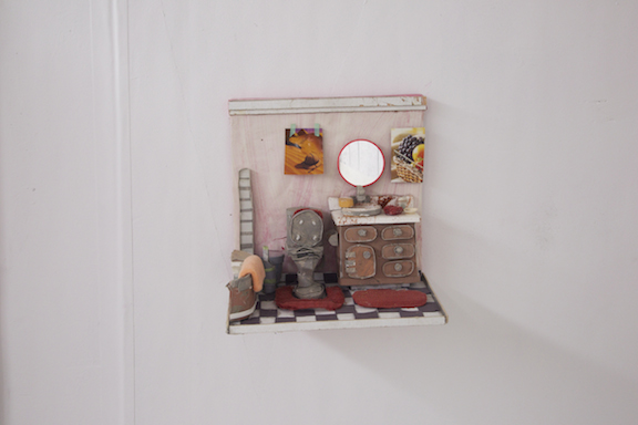 Nicholas Buffon,  Bathroom , 2014, foam core, paper, glue, paint, 10 x 10 x 6.25 in
