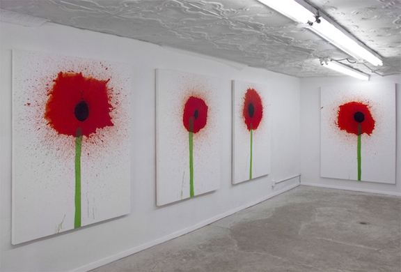 Installation view,  Poppies , STL, NY, 2015