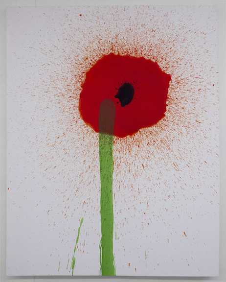 Keith Boadwee,  Poppies #6 , 2015, acrylic on canvas, 60 x 46 in