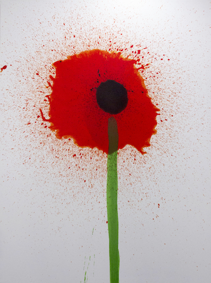 Keith Boadwee,  Poppies #9 , 2015, acrylic on canvas, 72 x 54 in