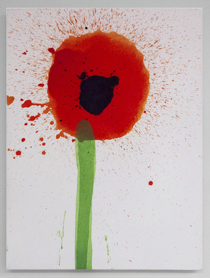 Keith Boadwee,  Poppies #4 , 2015, acrylic on canvas, 32 x 24.5 in