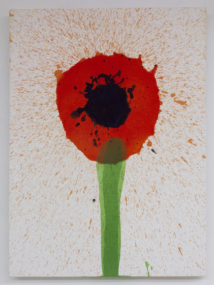 Keith Boadwee,  Poppies #5 , 2015, acrylic on canvas, 32 x 24.5 in