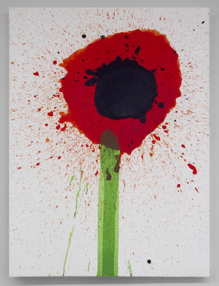 Keith Boadwee, Poppies #1, 2015, acrylic on canvas, 32 x 24.5 in