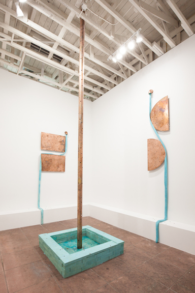 Installation view,  EBB , Martos Gallery, Los Angeles, 2015