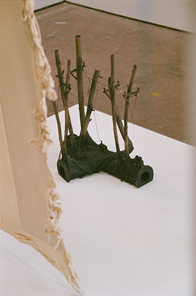 Henry Deposit,  Motherlog #3: Spare Parts  (detail), 2012, wood, mixed media, 20 x 30 x 20 in Installation image by Jesse Stecklow