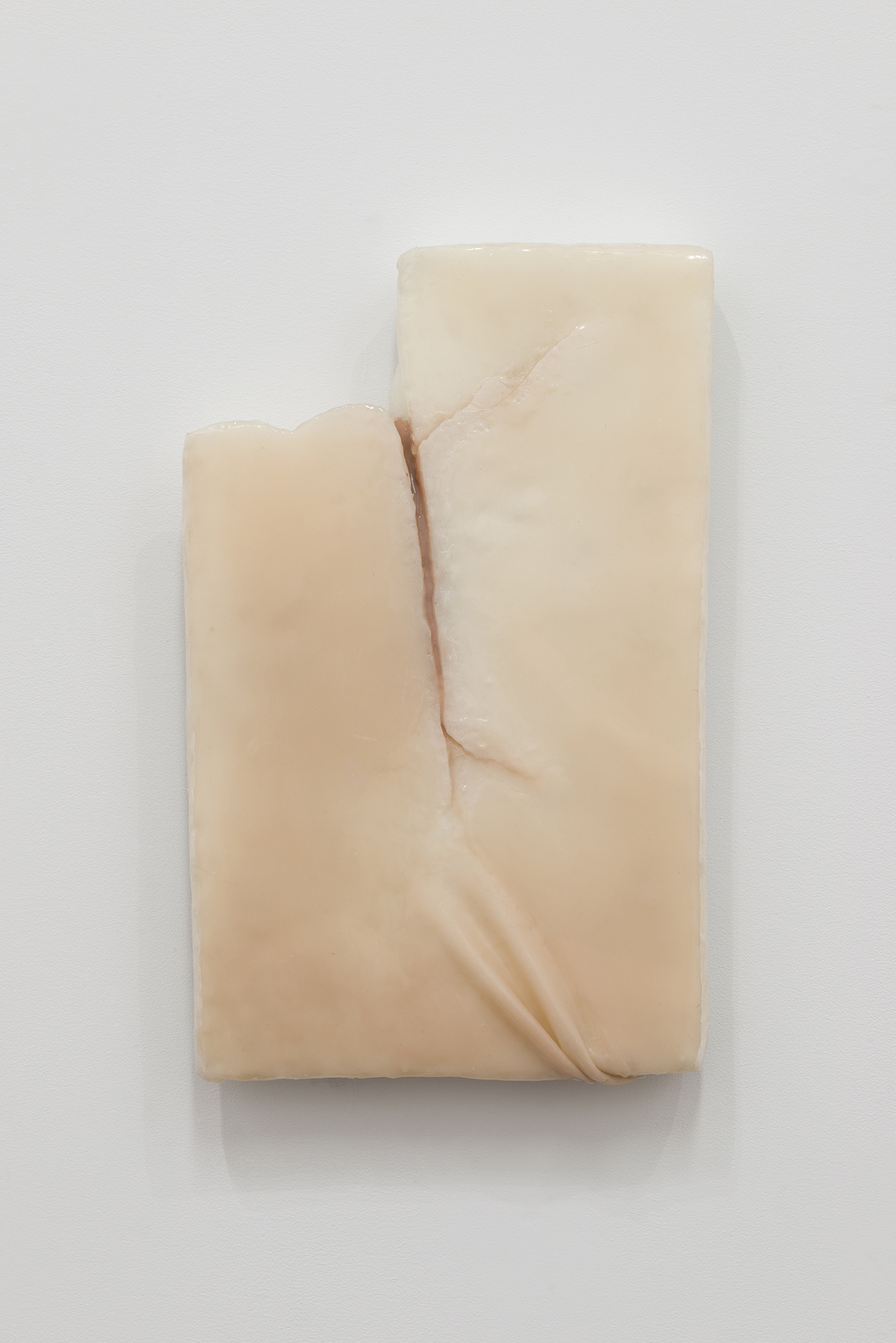 Ivana Basic,  Ungrounding , 2014, wax, silicon, linoleum, 19.5 x 13 x 2.5 in