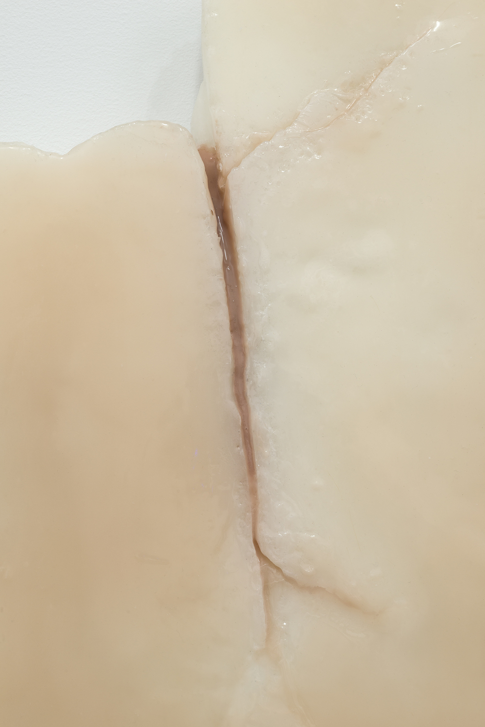 Ivana Basic,  Ungrounding  (detail), 2014, wax, silicon, linoleum, 19.5 x 13 x 2.5 in