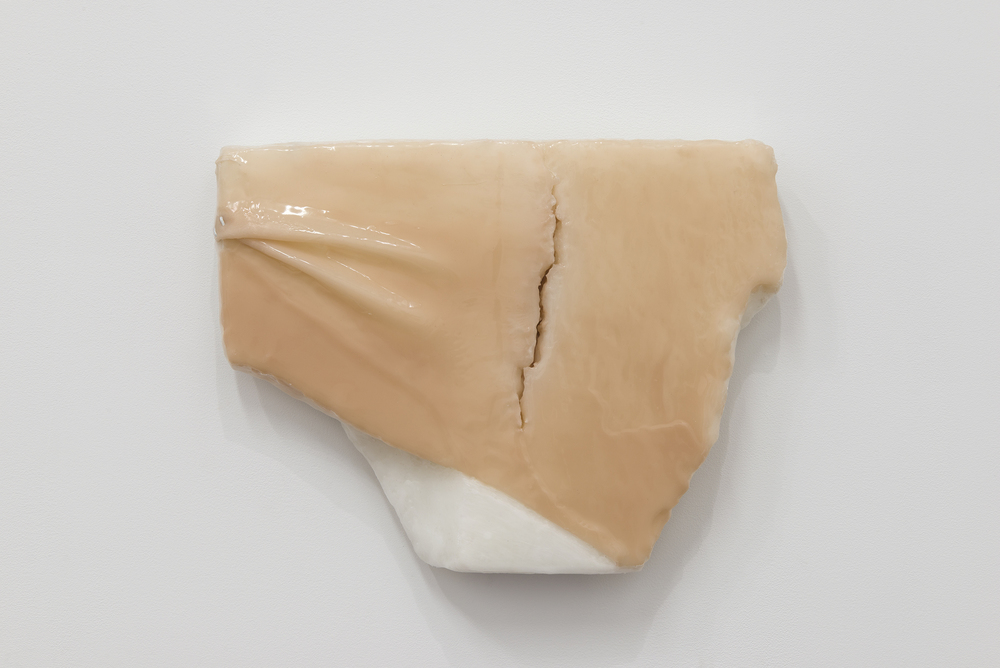 Ivana Basic,  Ungrounding 2,  2014, wax, silicon, linoleum, 16 x 12.5 x 2.5 in