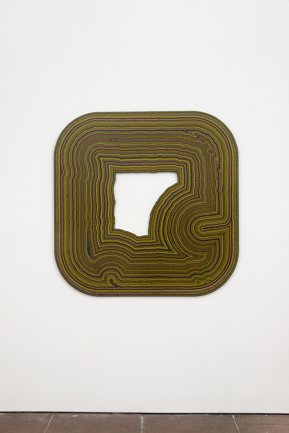 Roland Thompson,  Tremble , 2003, acrylic on aluminum, 48 x 48 in