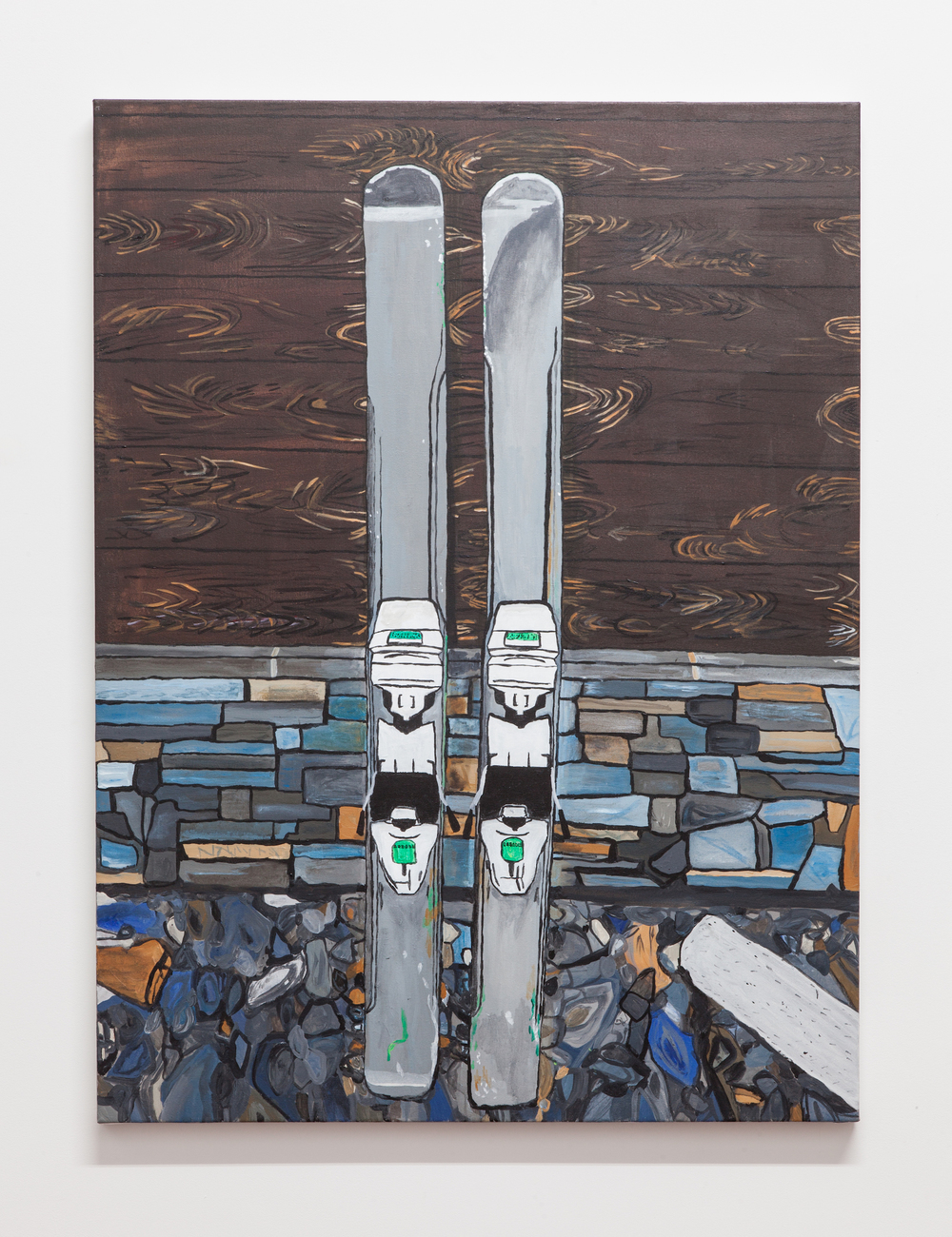 Jocko Weyland,  Volkls , 2014, acrylic on canvas, 48 x 36 in