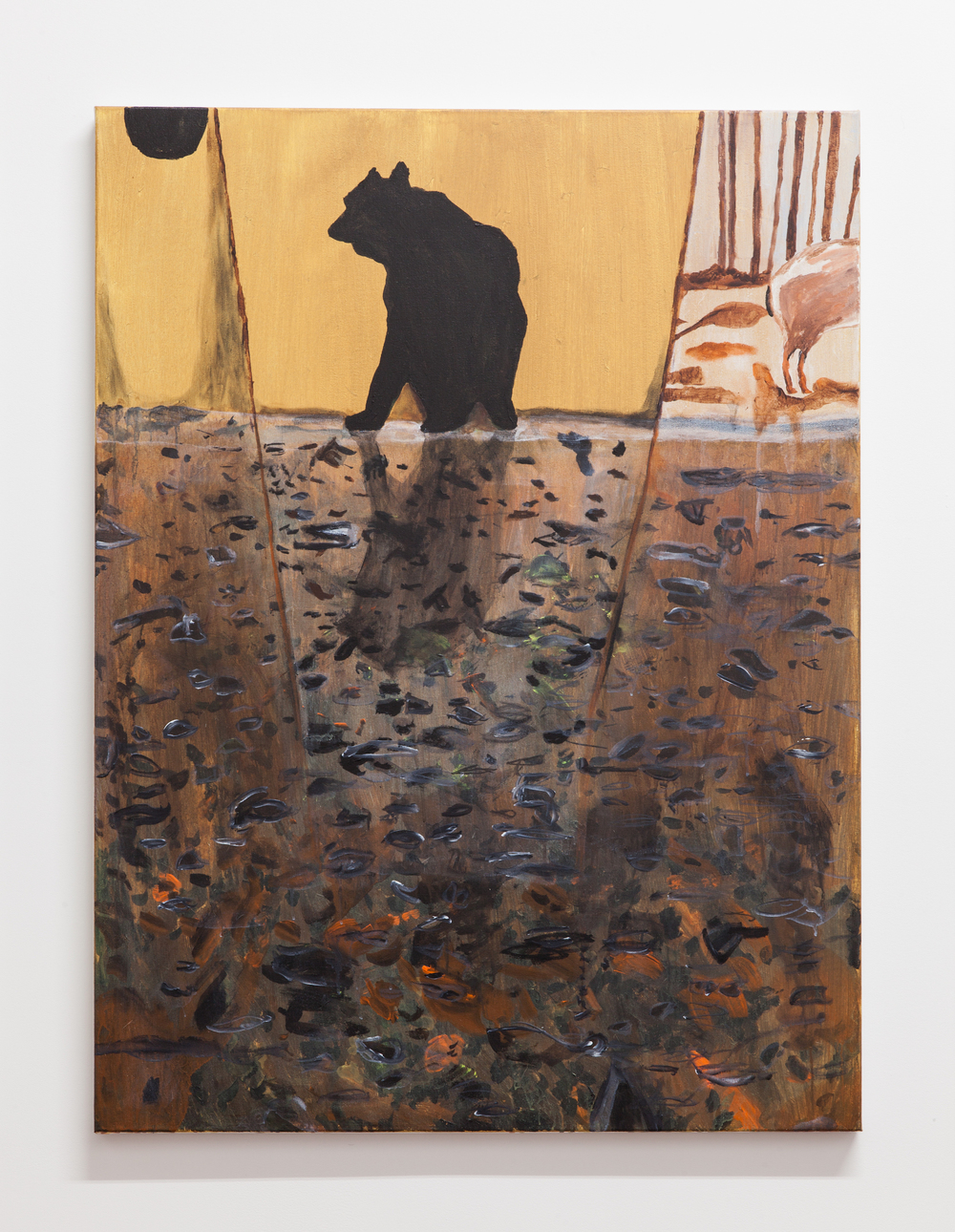 Jocko Weyland,  Bear No. 1 , 2014, acrylic on canvas, 48 x 36 in