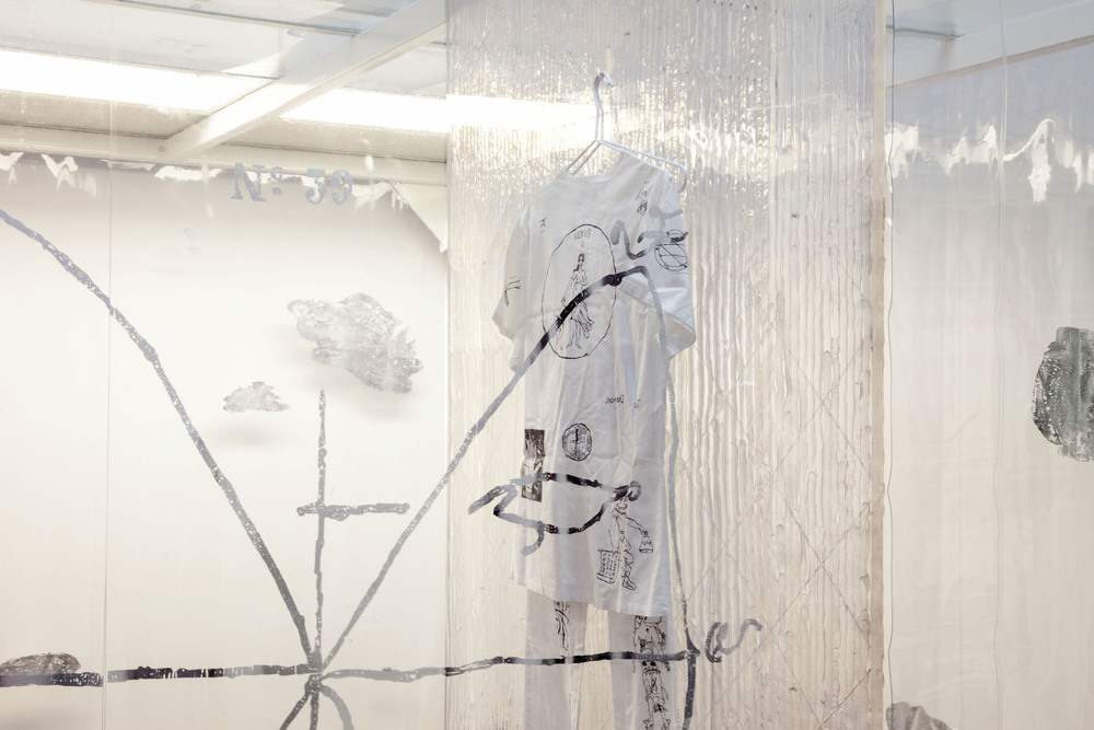 Natalie Labriola,  Cleanroom for Psychic Protection  (detail), 2015 - 2016, modified, used ISO-Level 8 cleanroom, 89 x 96 x 144 in