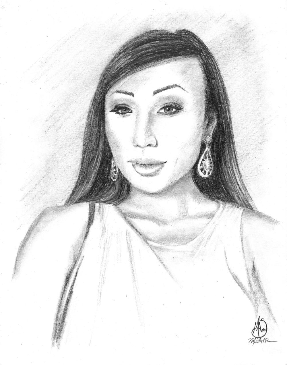 Michelle Shepperd,  Venus Lux , 2016, graphite on vellum, 14 x 11 in