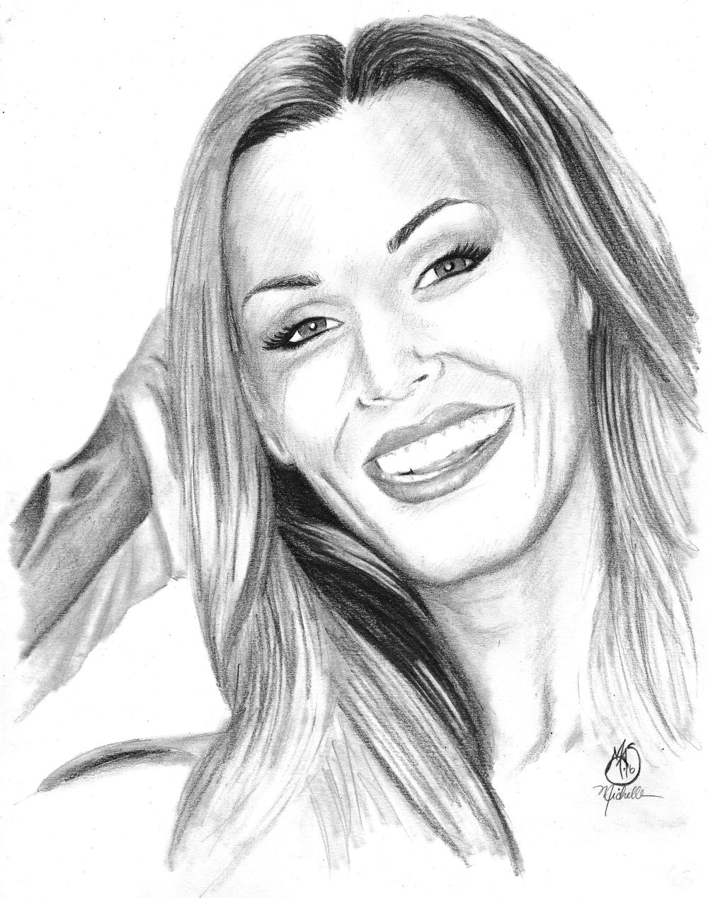 Michelle Shepperd,  Tanya Tate , 2016, graphite on vellum, 14 x 11 in