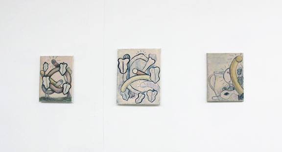 Installation view, Wallace Berman, Jeff Davis, Matthew Langan Peck, Sophie Stone ,STL, NY, 2015