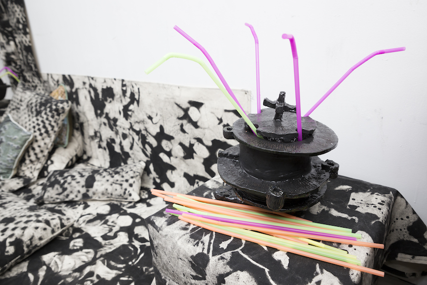 Michael Welsh,  Scorpion Bowl and Lounge , 2016, mixed media, dimensions variable