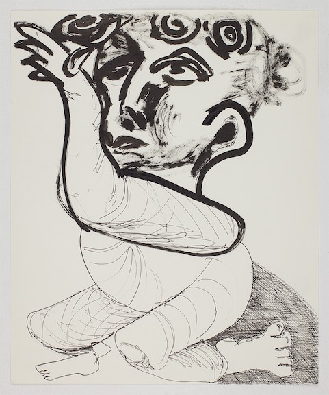 Sofi Brazzeal,  Untitled (baby 1) , 2015, Ink on paper, 17 x 14 in