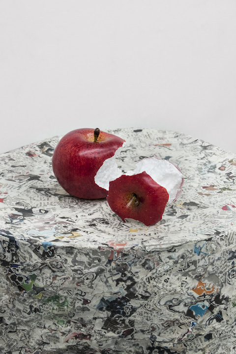 Bea Fremderman,  Apples,  2017, (styrofoam apples) styrofoam, 3 x 3 x 3 in