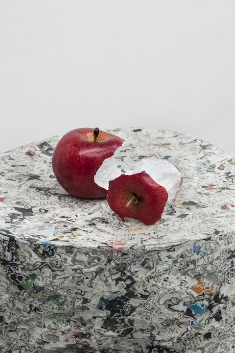 Bea Fremderman, Apples,  2017,(Styrofoam Apples)Styrofoam,3 x 3 x 3 in