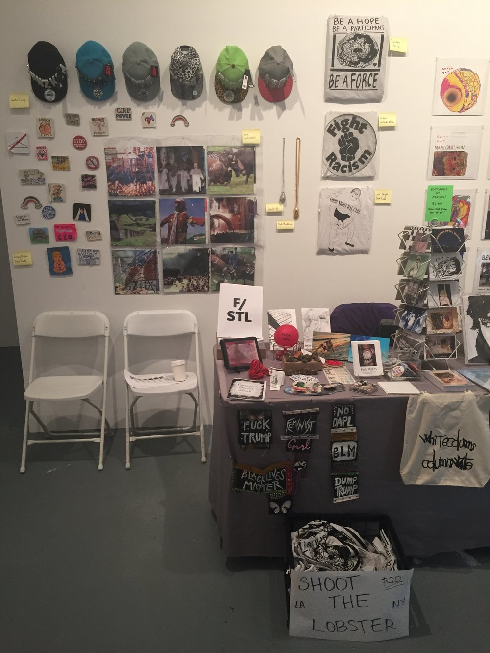 Installation view,  LA Art Book Fair,  MoCA Geffen, Los Angeles, 2017