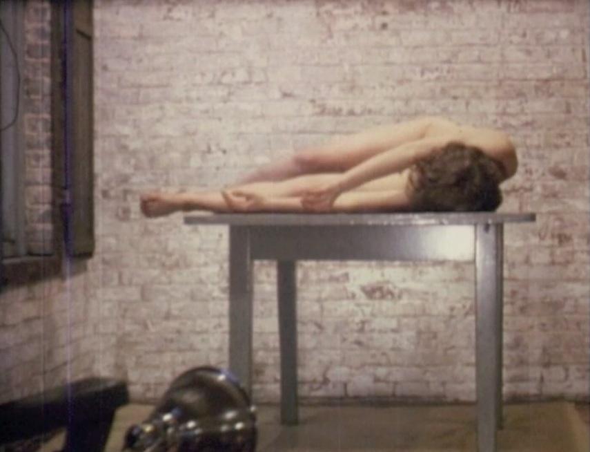 Pooh Kaye, Table-Walk , 1976,digital transfer from Super 8,01:30 min