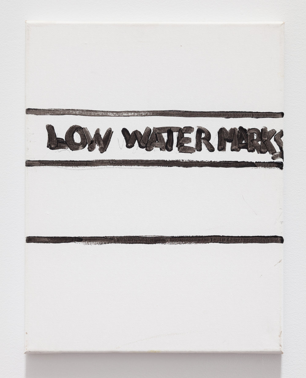 Gene Beery,  Low Water Mark , 2010, acrylic on canvas, 14 x 11 in