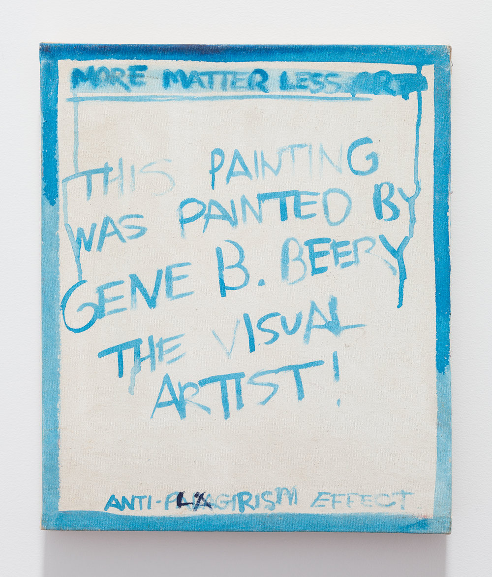 Gene Beery,  Anti Plagiarism , 2004, acrylic on canvas, 20 x 16 in