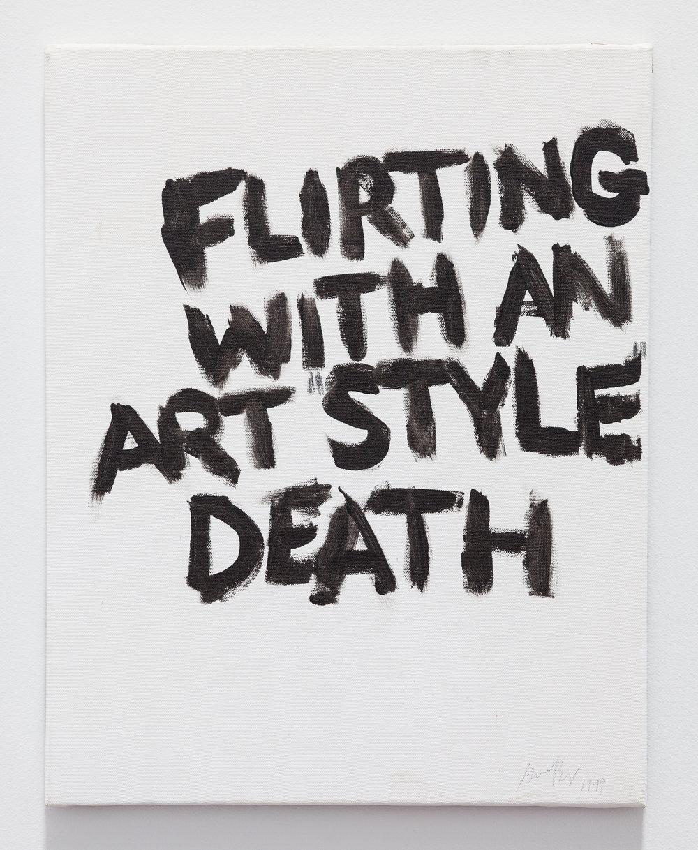 Gene Beery,  Flirting , 2009, acrylic on canvas, 20 x 16 in